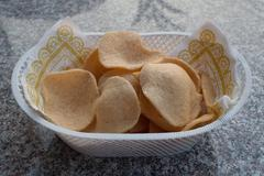 Prawn crackers chip. Stock Photos