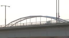 Bicycle,Bridge,Car Stock Footage
