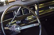 Stock Photo of old steering wheel