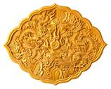 Golden dragon carved Stock Illustration