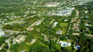 Aerial view residential properties nr Miami Stock Footage