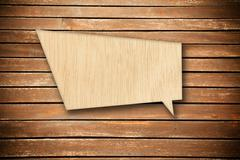 Wood speech bubble Stock Photos