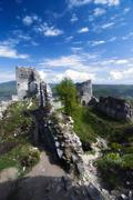 ruin of castle gymes - stock photo
