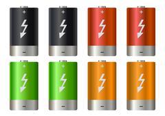 Stock Illustration of battery set illustration