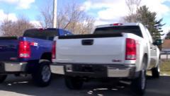 Trucks, Pickups, SUVs, New, Auto Dealership Lots - stock footage