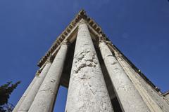 Great Roman pillars Stock Photos