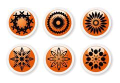 Stock Illustration of orange abstract symbols