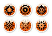 Stock Illustration of orange abstract symbols