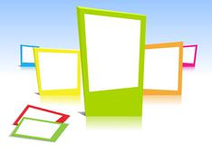Stock Illustration of colorful photo frames in vector art