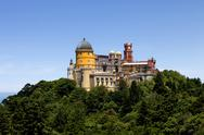 Stock Photo of famous palace of pena in sintra, portugal