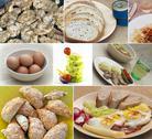 Food collage Stock Illustration