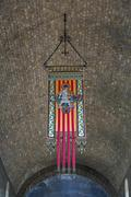 ripoll monastery coat of arms emblem or - stock photo