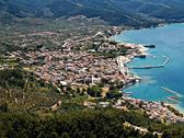 Stock Photo of limenas, thassos, aerial view
