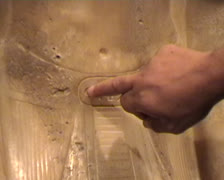 Glyph on alabaster statue Stock Footage