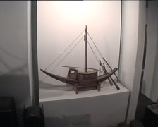 Ancient egyptian model boat Stock Footage