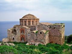 ayia sophia church at monemvasia, greece - stock photo