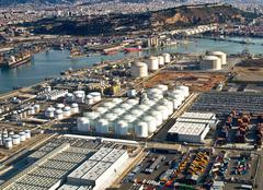 Stock Photo of port of barcelona, spain, aerial view