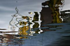 Shipyard reflection Stock Photos