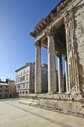 Shy Roman square Stock Photos