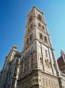Giotto's campanile,  florence, italy. Stock Photos