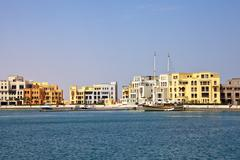 new marina, el gouna, red sea, egypt - stock photo