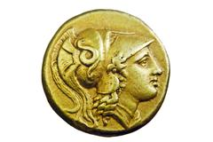 Ancient greek gold coin Stock Photos