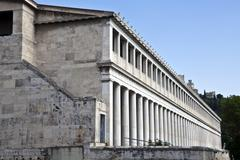 stoa of attalos, athens, greece - stock photo