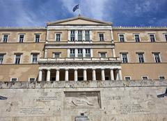 greek parliament, athens, greece - stock photo