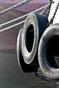 Tyre fender Stock Photos