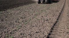 Tractor Preparing Field for Sowing Stock Footage