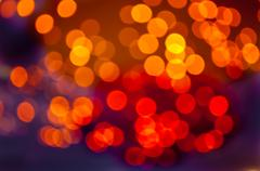 red and orange bokeh - stock photo