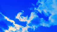 Blue sky with clouds (4) Stock Footage