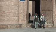 Derwish (sufi islamist) at Kunya Ark Gate Stock Footage