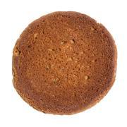 single oat cookie reverse side - stock photo