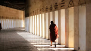 Stock Video Footage of Monk dressed in traditional Robe, Burma  3