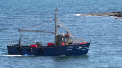 Lobster boat 2 Stock Footage