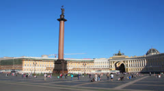 Palace Square in St. Petersburg Stock Footage