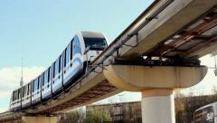 Moscow monorail - stock footage