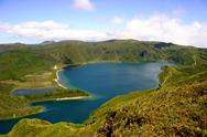 Stock Photo of the lake of fire in azores island of sao miguel
