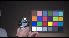 Colour Chart and Light Meter - stock footage