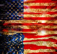 united states of america flag illustration, computer generated - stock illustration