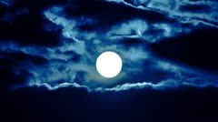 4K & HD resolutions: MOON & CLOUDS - MADE OF RAW OUTPUT Stock Footage