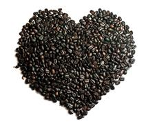 coffee beans heart shape. - stock photo