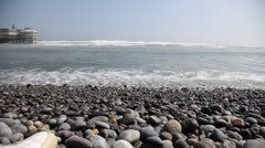 Landscape of the pacific ocean in Lima, Peru Stock Footage