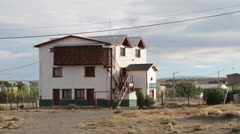 Argentina, Calafate, Pan of Village Houses Stock Footage