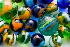 Colorful marble balls as a background Stock Photos