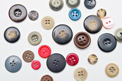 colorful buttons isolated on white background - stock photo