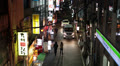 Night narrow streets of Tokyo, Japan Footage
