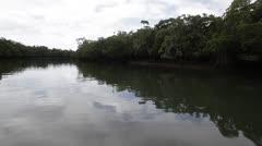 Australia, POV Underway on Cooper Creek Stock Footage