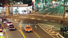Stock Video Footage of Night traffic in Tokyo city, Japan